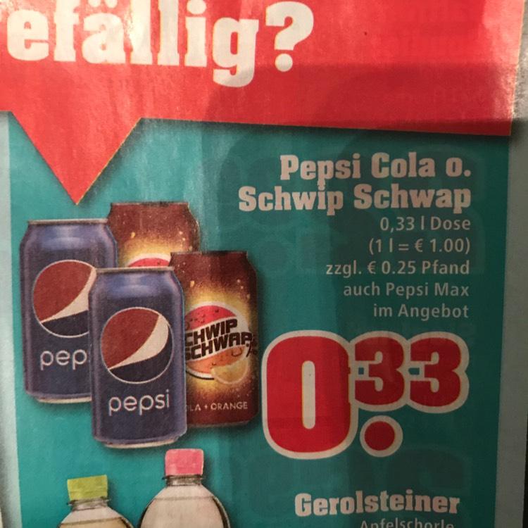 Pepsi Cola o. Schwip Schwap