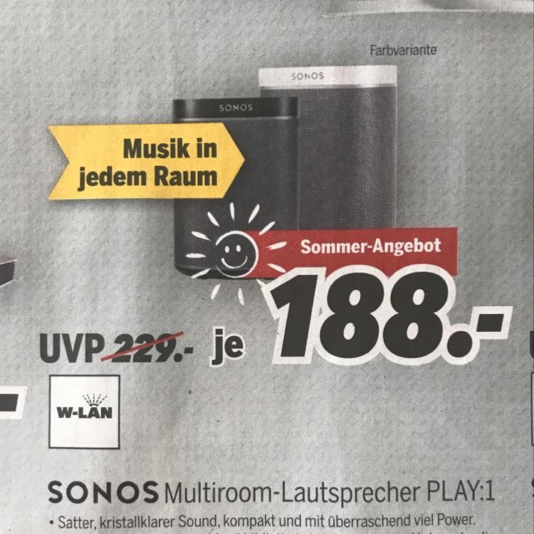 Sonos Play 1 - Medimax Heinsberg / lokal