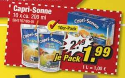 Capri-Sonne/Capri-Sun 10x200ml bei POCO für 1,99€