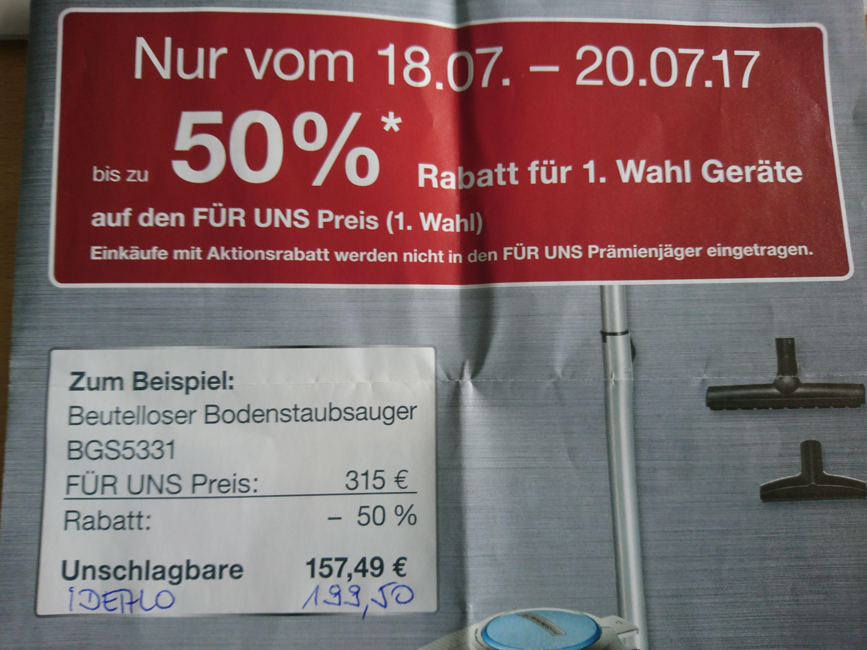 Regional: Bosch beutelloser Staubsauger BGS5331 Für Uns Shop