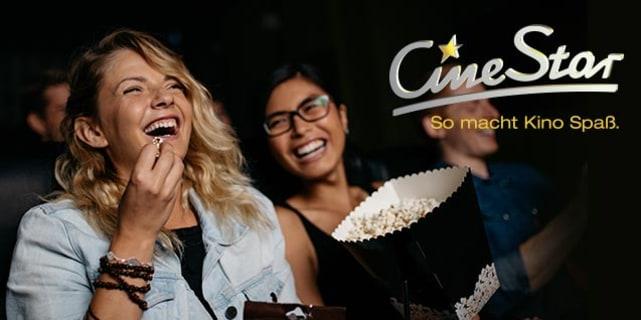 5 Cinestar Kinotickets für 2D-Filme mit freier Sitzplatzwahl für 23,38 € bei DailyDeal