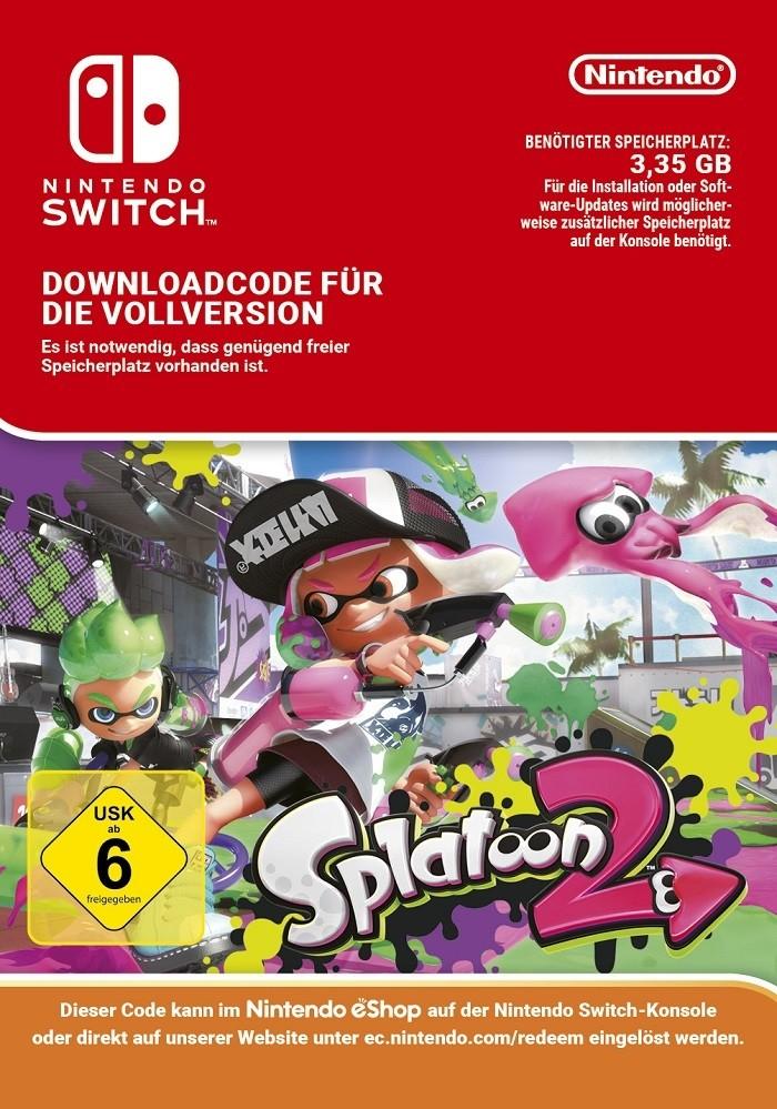 Splatoon 2 (Nintendo Switch) eShop Code (Download) für 49,95€ statt 55€ mit Amazon Payments