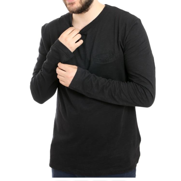 MOSS COPENHAGEN-Sale bei Outlet46, z.B. Mathias Herren Long-Sleeve-Shirt Schwarz für 7,99€ statt 22,90€