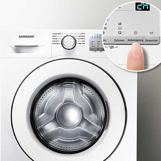 Samsung Waschmaschine A+++, 8kg, 1400 U/min, Diamond Pflegetrommel, Endzeitvorwahl, Quick ´15