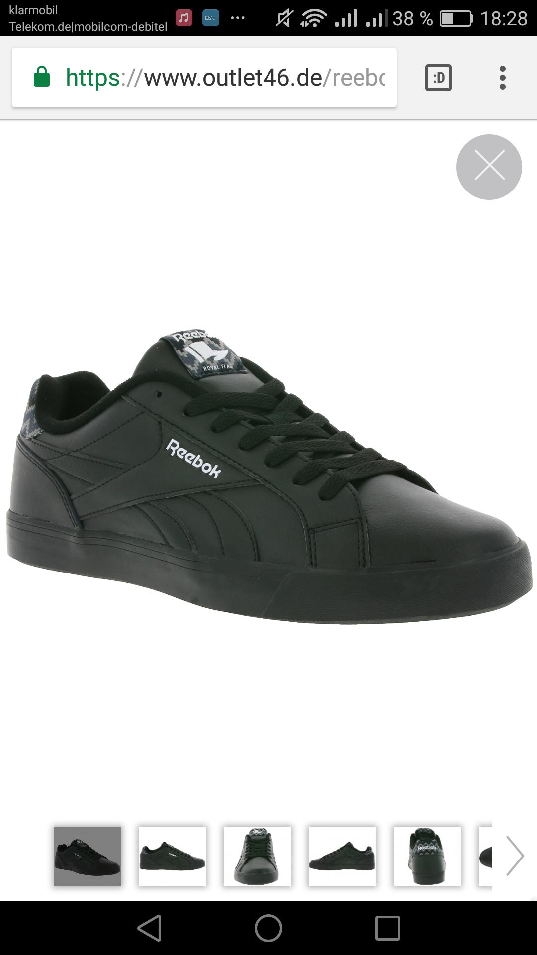 Reebok Royal Complete 2LL Herren Sneaker Schwarz 40,5-46, outlet46