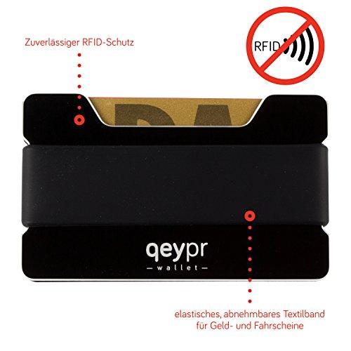 Qeypr Wallet - RFID Alu Kreditkartenetui bzw. Kreditkartenportemonnaie (48 Stunden 50% VIP Rabatt zur Einführung der 2.gen - Amazon PRIME)