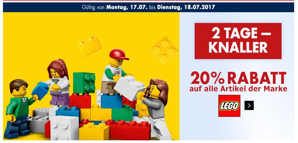 20% auf alle LEGO Artikel, Karstadt online und offline, auch auf reduzierte Ware