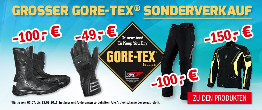 Goretex Sonderverkauf bei Hein Gericke - Motorradbekleidung
