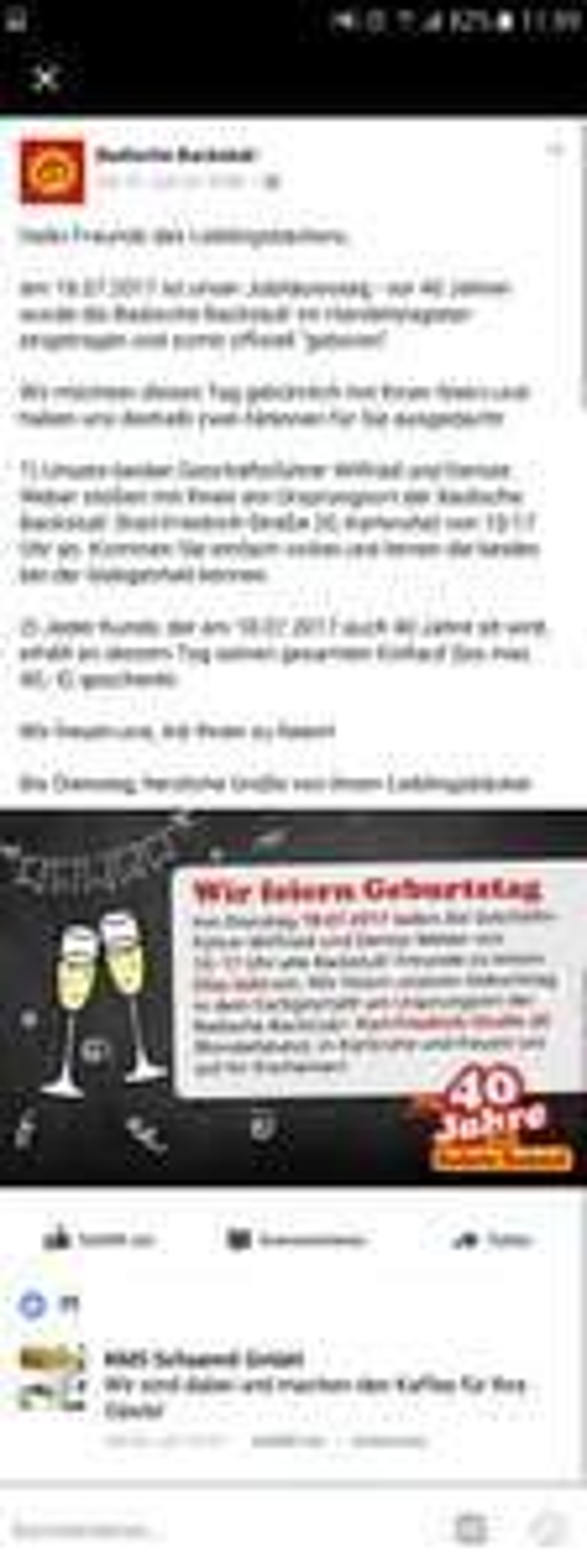 [Lokal Karlsruhe] Glas Sekt oder O-Saft gratis in Karlsruhe bei der badischen Backstub