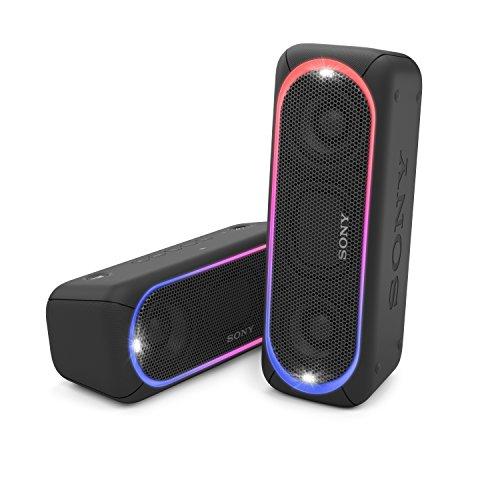 [Amazon oder Media Markt] Sony SRS-XB30 Tragbarer, kabelloser Lautsprecher (farbige Lichtleiste, Stroboskoplicht, Extra Bass, Bluetooth, NFC, wasserabweisend, bis zu 24 Stunden Akkulaufzeit, Wireless Party Chain) Schwarz