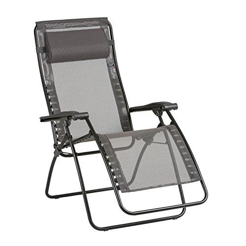 [Amazon] Lafuma Relax-Liegestuhl, Klappbar und verstellbar, Graphite (Maximale Belastung 140 Kg, RSXA Liegestuhl, 115x68x88 cm, Bezug: Classic Batyline)