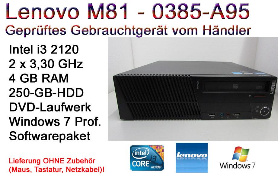 gebrauchte Desktop-PCs bei [Computer-Restposten] - z.B. Lenovo M81 SFF (i3-2120, 4GB RAM, 500GB HDD) für 79,99€ oder Lenovo M82 SFF (i3-3240, 4GB RAM, 500GB HDD) für 89,99€