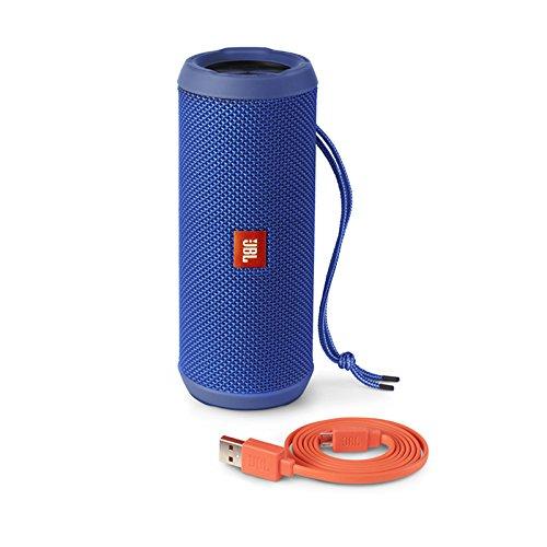JBL Flip 3 Spritzwasserfester Tragbarer Bluetooth-Lautsprecher mit außerordentlich Kraftvollem Klang im Kompakten Design - Blau