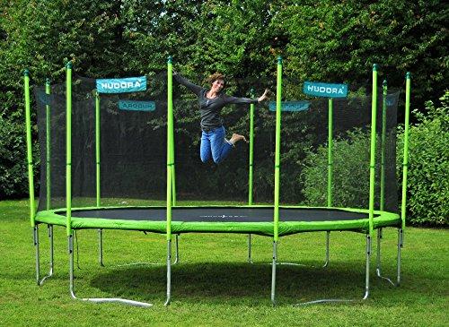 HUDORA Family Trampolin/Gartentrampolin, mit Sicherheitsnetz, grün 480cm