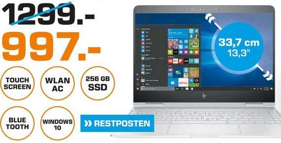[Lokal - Saturn Köln Porz] HP Spectre x360 13 (2017) 13-ac037ng, Convertible mit 13.3 Zoll, 256 GB Speicher, 8 GB RAM, Core™ i5 Prozessor, Windows 10 Home für 997€