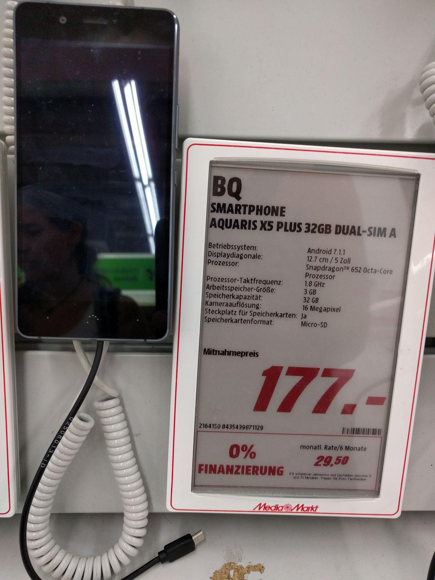 [Lokal -  Media Markt Bruchsal] BQ Aquaris X5 Plus 32GB