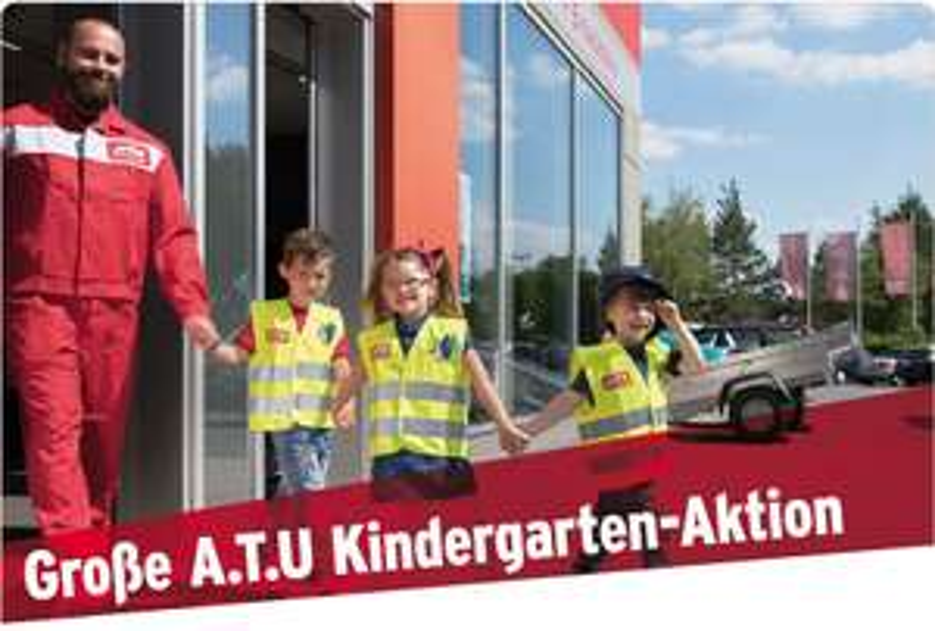 A.T.U verteilt 75.000 Sicherheitswarnwesten für Vorschulkinder