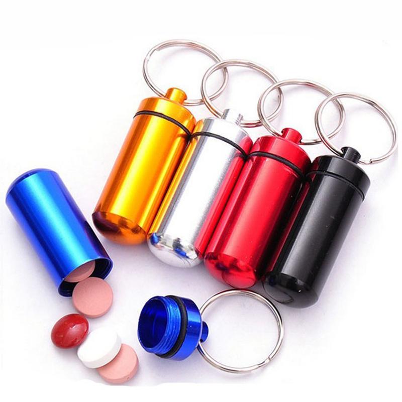 Pillendosen-Schlüsselanhänger bzw. Geocaching Nano/Micro Versteck in verschiedenen Farben, Wasserdicht für 36 Cent @ Aliexpress
