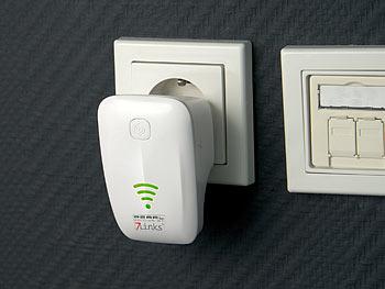 WLAN-Repeater WLR-360.wps mit Access Point, WPS und 300 MBit/s