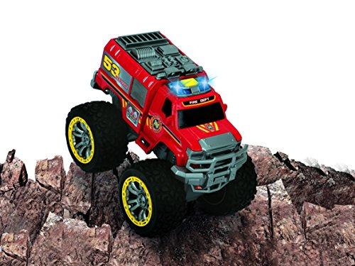 Dickie Toys - Flame Hunter, Feuerwehr-Monstertruck, 23 cm