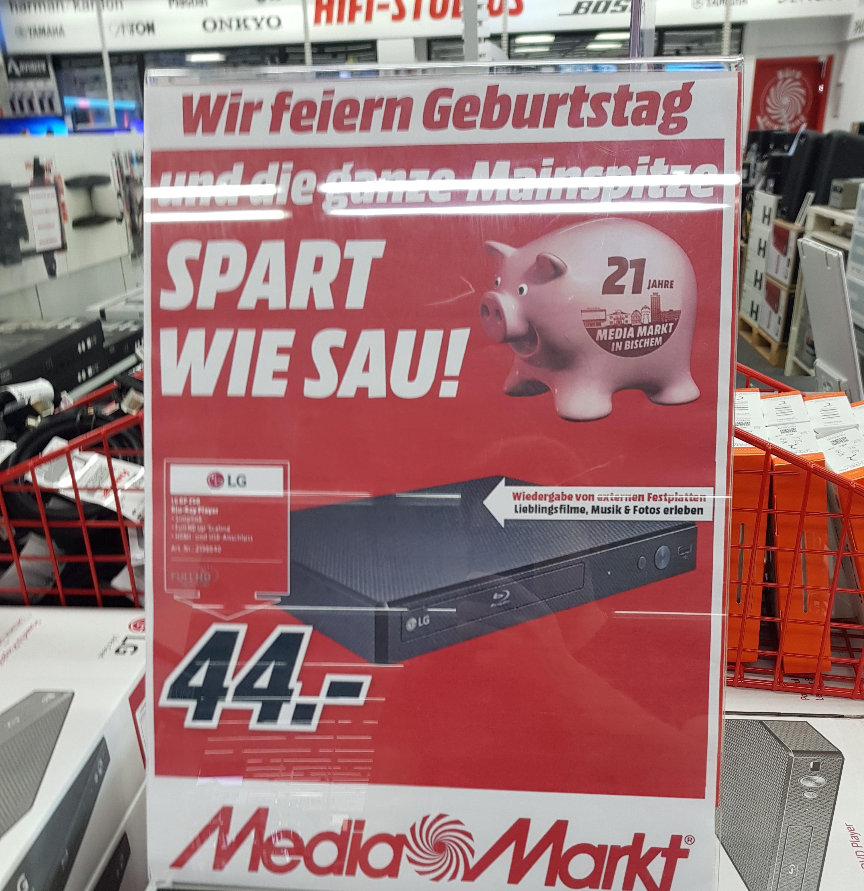 [MM lokal Mainz/Bischofsheim/Alzey] LG BP250 Blu-Ray Player - Idealo 57,99€