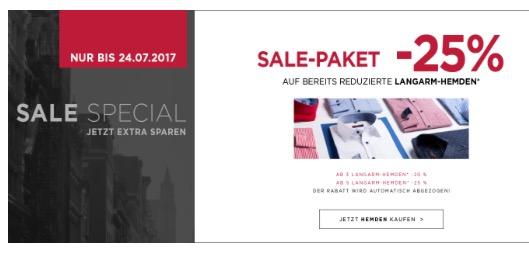 Sale Special bei Eterna auf Langarm-Hemden!