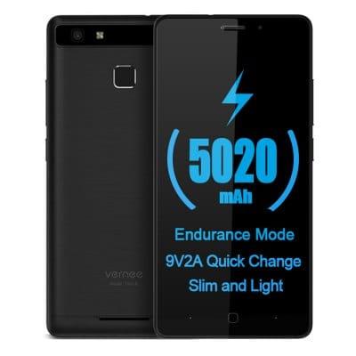 """Vernee Thor E: 5"""" HD IPS, LTE + Dual Sim, MT6753 Octacore, 3GB RAM, 8MP Kamera, 16 GB ROM, 5020mAh mit QC, Fingerabdrucksensor, Android 7 für 89€ (Gearbest)"""