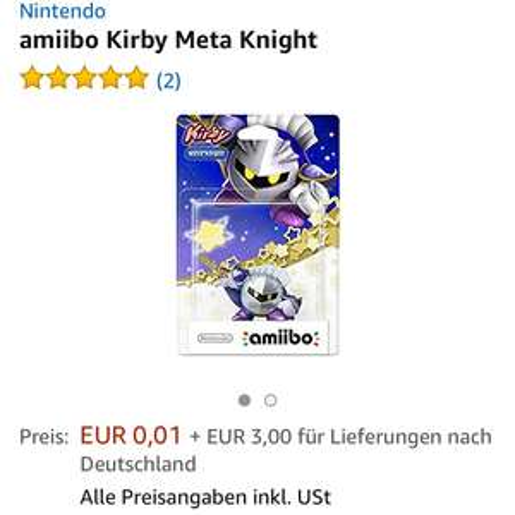 Meta Knight Amiibo Amazon 1 Cent -Nintendo-