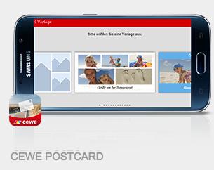 Müller Fotoservice Gratis Postkarte versenden über CEWE App