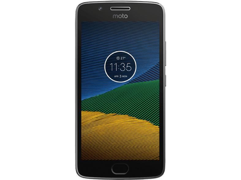 Lenovo Moto G5 Dual-SIM (5'' FHD IPS, Snapdragon 430 Octacore, 2GB RAM, 16GB eMMC, 13MP + 5MP Kamera, kein Hybrid-Slot, 2800mAh wechselbar mit Quick Charge, Android 7) für 133€ versandkostenfrei [Saturn + Amazon + Mediamarkt]