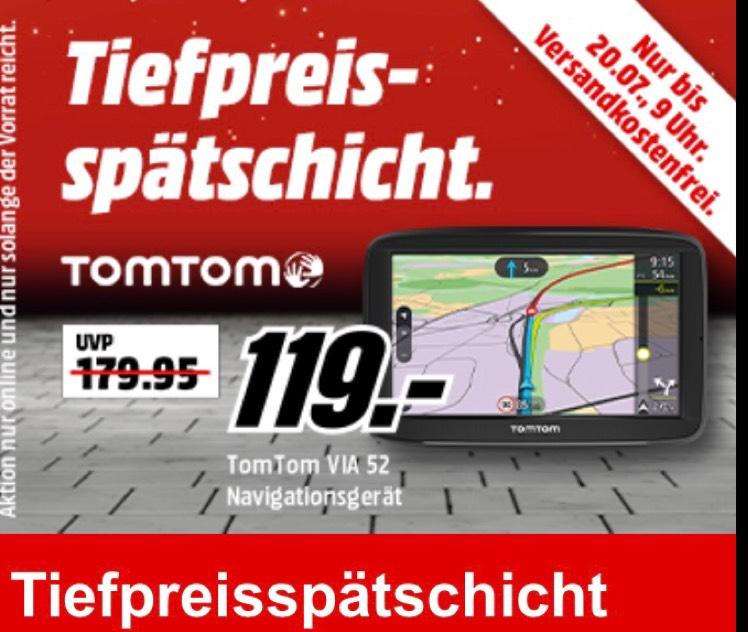 [Media-Markt Online] TOMTOM Via 52 EU PKW-Navigationsgerät Europa für nur 119€