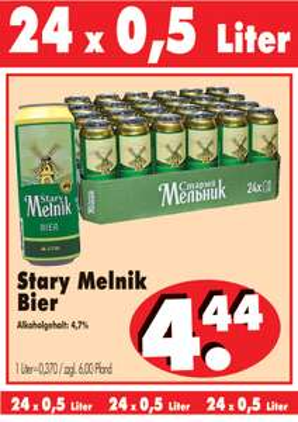 RB-Becker: Stary Melnik 24x0,5l für 0,185€/Dose [Nordhessen]