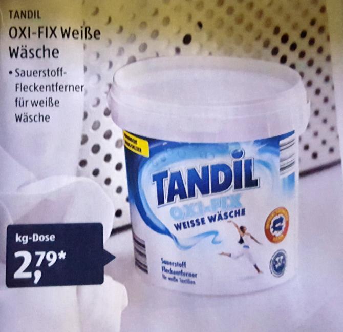 Tandil OXI-FIX Fleckenentferner für weiße Wäsche 1,0kg für 2,79€ [Aldi Süd] ab 27.07.2017