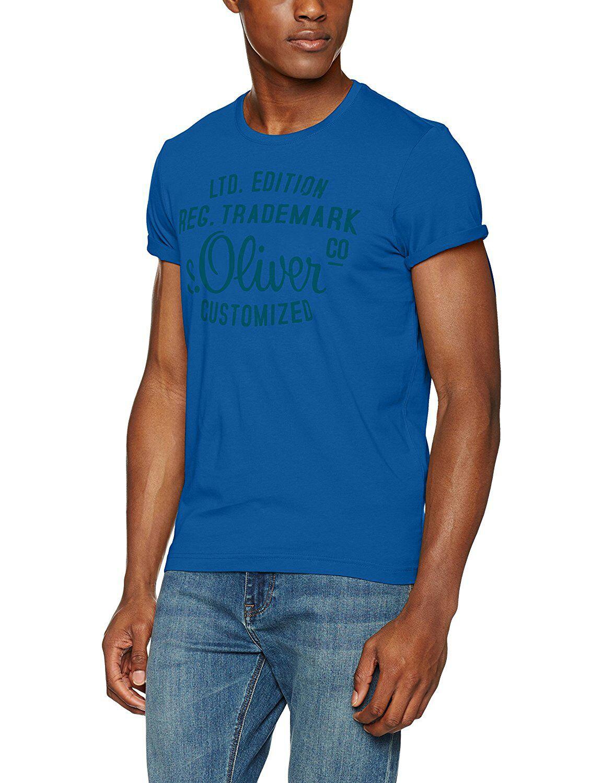 [Amazon Prime] S.Oliver T-Shirt Farbe blau in Größe S, M und L erhältlich. Farbe rot in Größe M