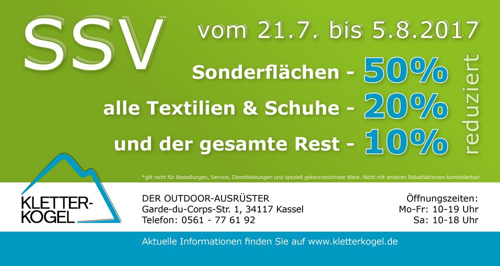 [LOKAL KASSEL] - SSV beim Outdoorausrüster Kletterkogel, u.a. 20% auf alle Textilien und Schuhe