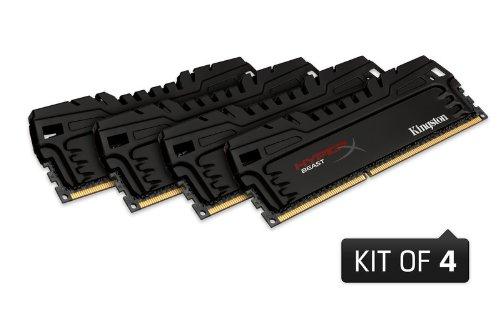 [Amazon Vorbestellung] HyperX Beast XMP KHX16C9T3K4/32X Arbeitsspeicher (1600MHz, CL9) DDR3-RAM 32GB Kit (4x8GB)