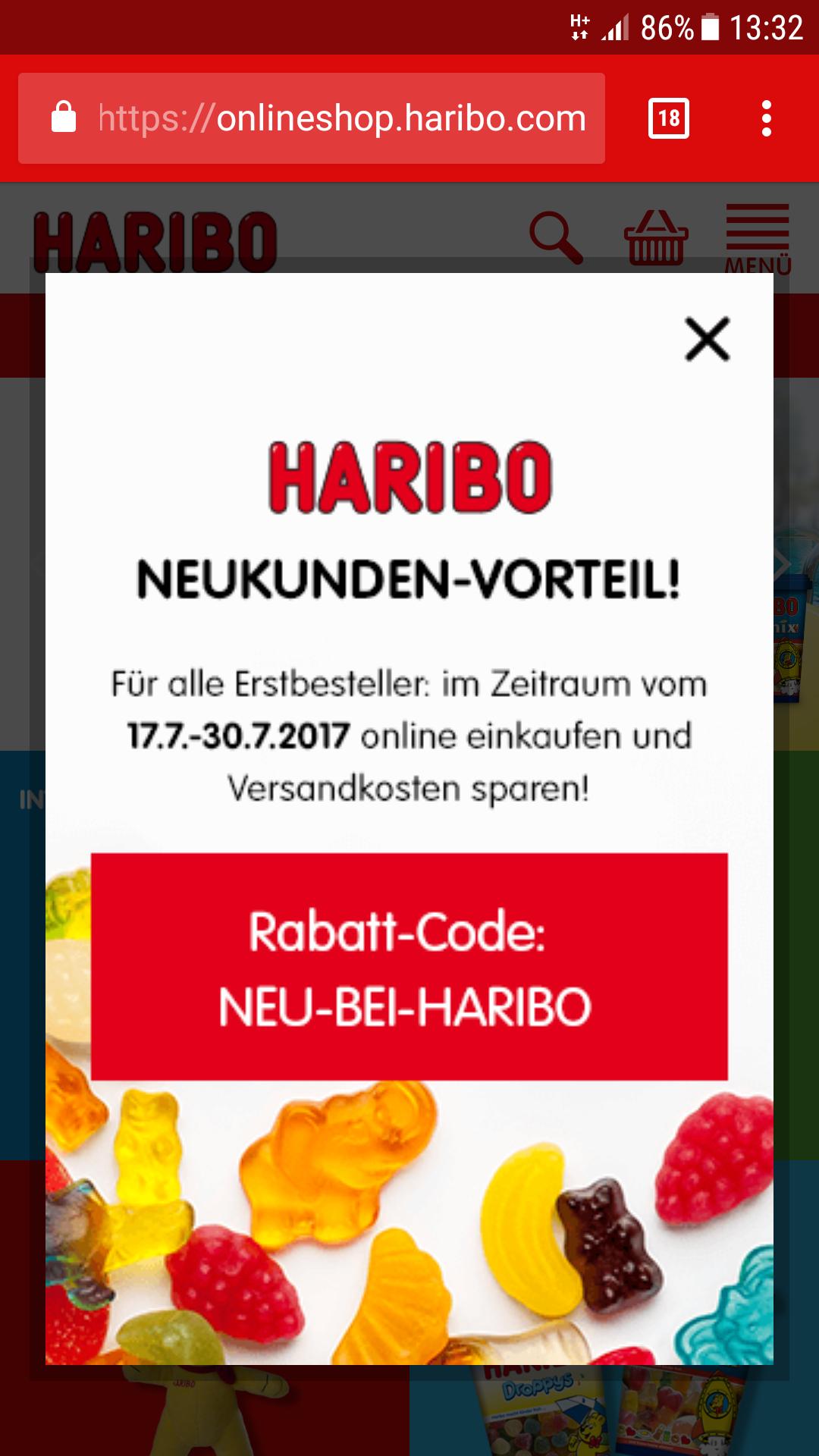 Versandkostenfrei im HARIBO-Shop