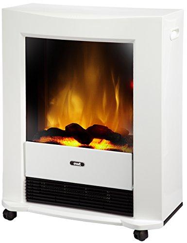 [Amazon] EWT 206145 elektrisches Kaminfeuer Bartok, weiß