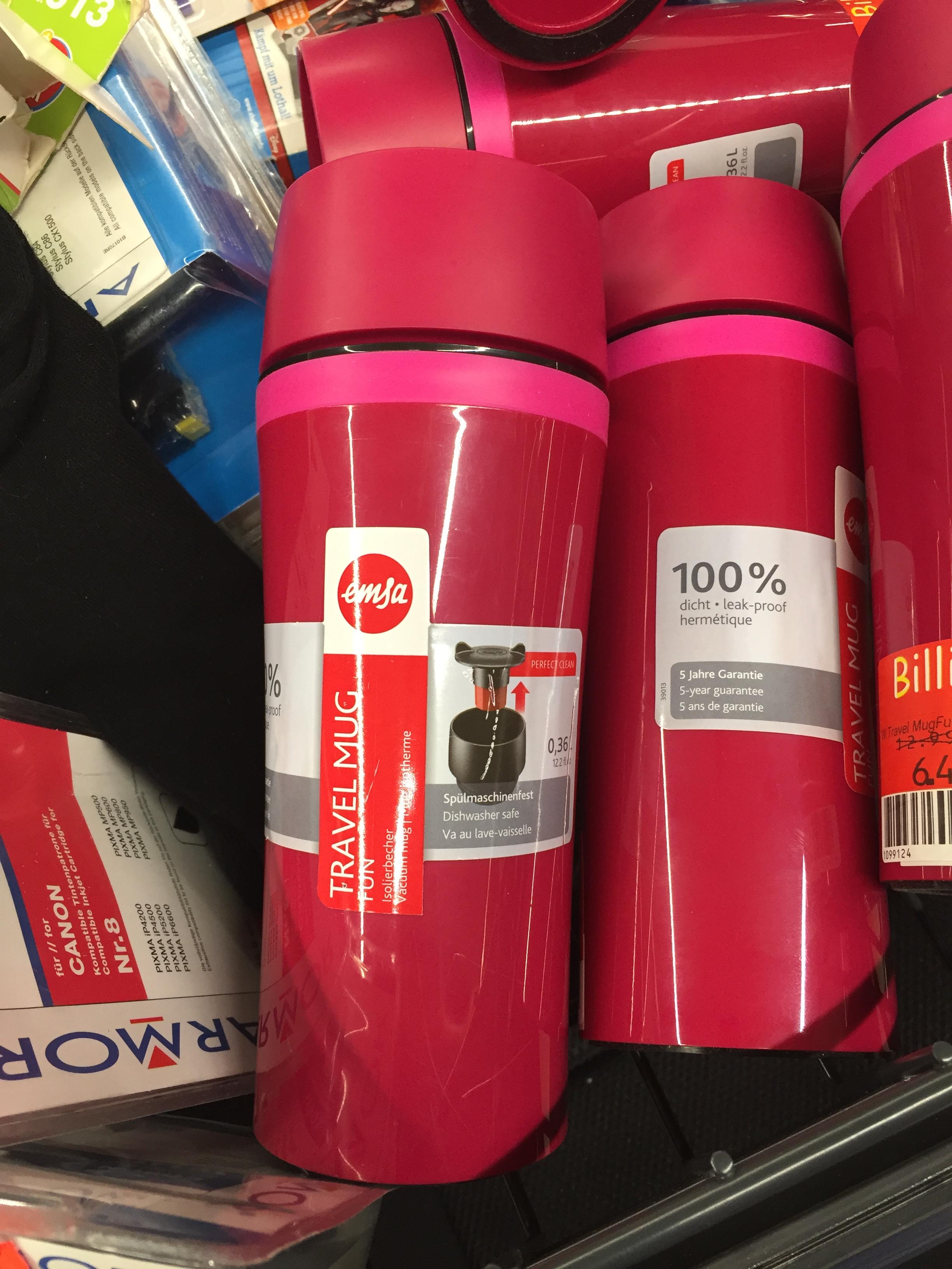 [Lokal - Kaufland Industriestr. Backnang] Emsa Travel Mug Fun Isolier-Trinkbecher 0,36 l