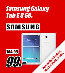 SAMSUNG Galaxy Tab E 8 GB 9.58 Zoll Tablet Weiß für nur 99€ [ Media Markt ]
