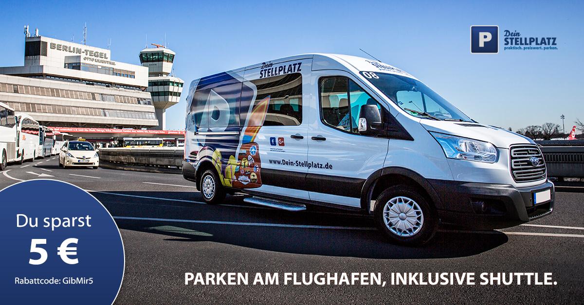 Parken am Flughafen Tegel, inklusive Shuttle