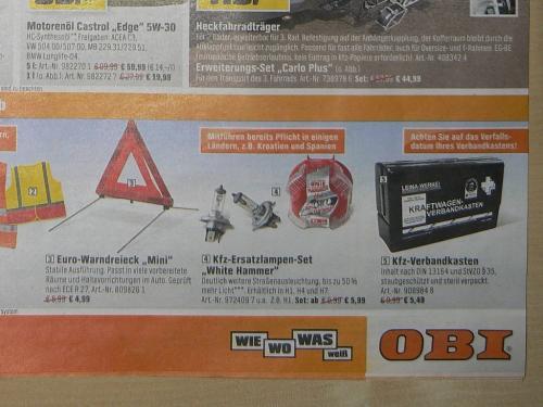 White Hammer H1 H4 H7 Zweierset ab 5,99€ bei OBI
