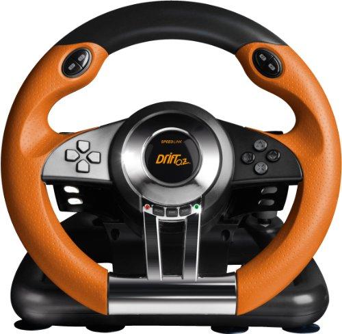 [Amazon] Speedlink Drift O.Z. Lenkrad für PlayStation 3/PS3 (Schaltwippen, Schaltknauf, Gas- und Bremspedale, XInput und DirectInput, Vibrationsfunktion) schwarz-orange