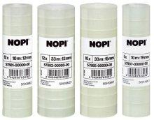 NOPI Klebefilm (by Tesa) transparent, 10 Rollen, 10m x 15mm [Amazon Plus]