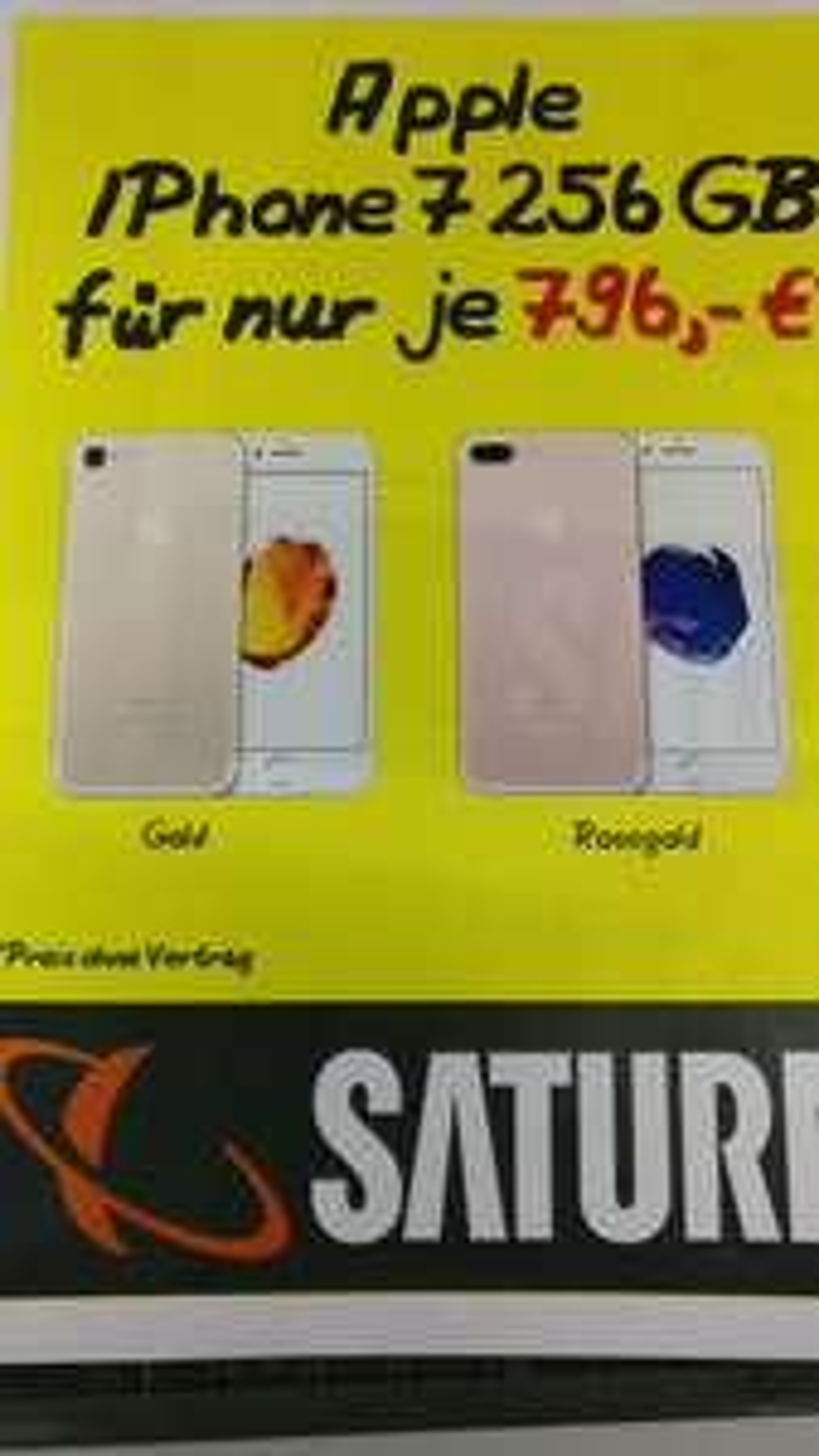 (Lokal: Saturn Siegen) Apple Iphone 7 256 GB für 796 €