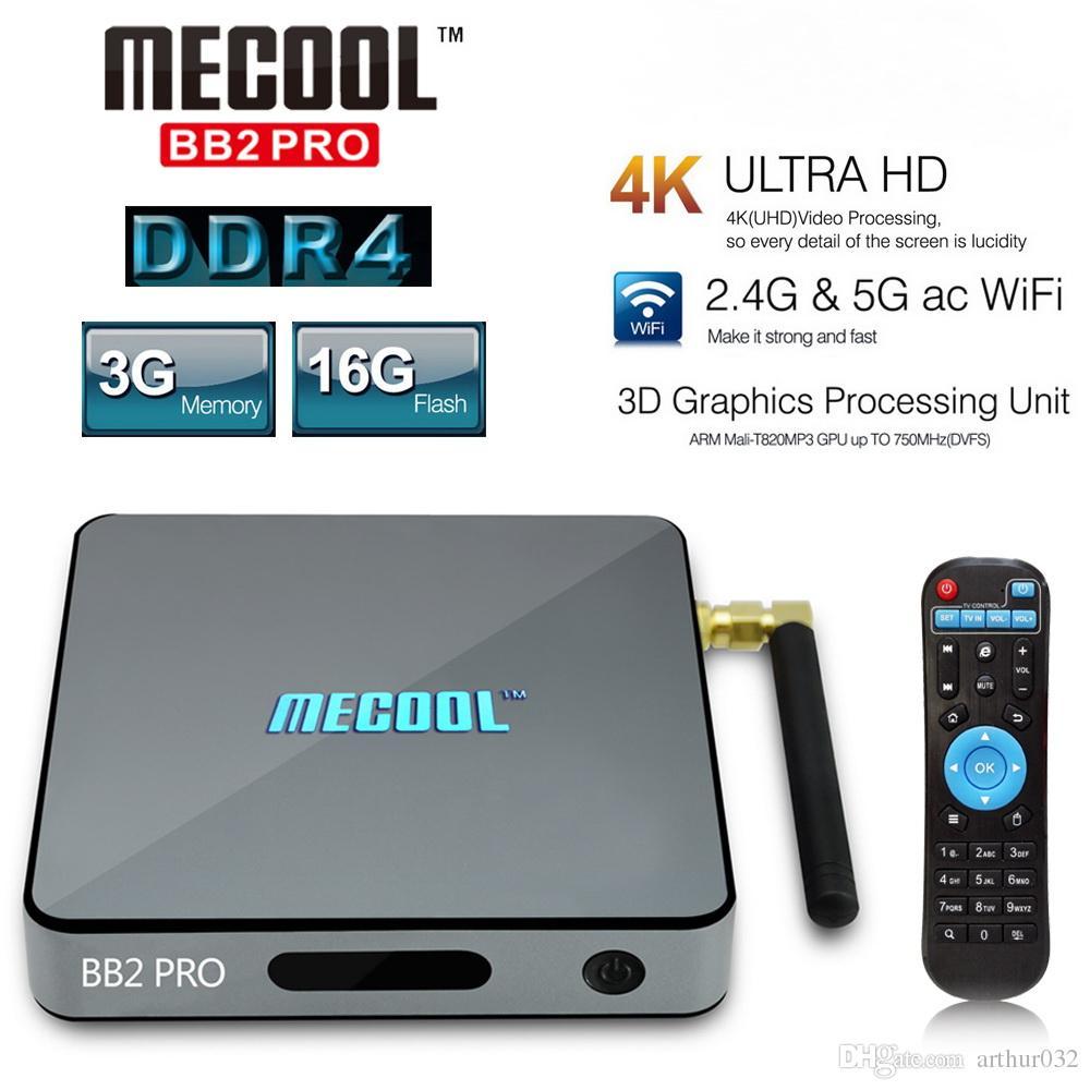 MECOOL BB2 PRO TV Box Android 6.0 3GB DDR4 + 16GB  -  EU PLUG