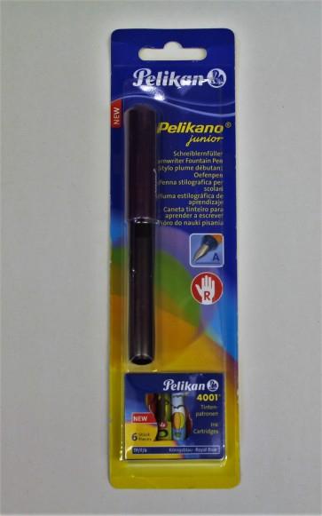 Pelikan Füller Pelikano junior inkl. 4 Patronen Farbe violett oder türkis