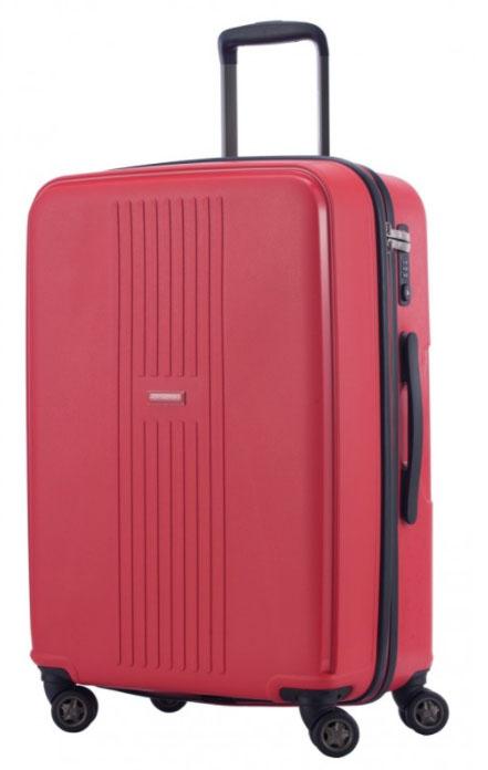 Hauptstadtkoffer F-Hain: Handgepäckkoffer (55cm/37l) und mittelgroßer Koffer (65cm/71l) für je 50€ oder in groß (77cm/110l) für 70€ - Hartschale, rot, TSA