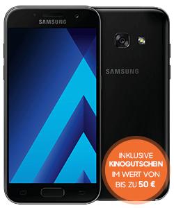 [Sparhandy] Samsung Galaxy A3 2017 für einm. 19€ + Smart Surf 1GB, 50 Min. und 50 SMS [9,99€/Monat] inkl. Kinogutschein [Wert ca. 50€]