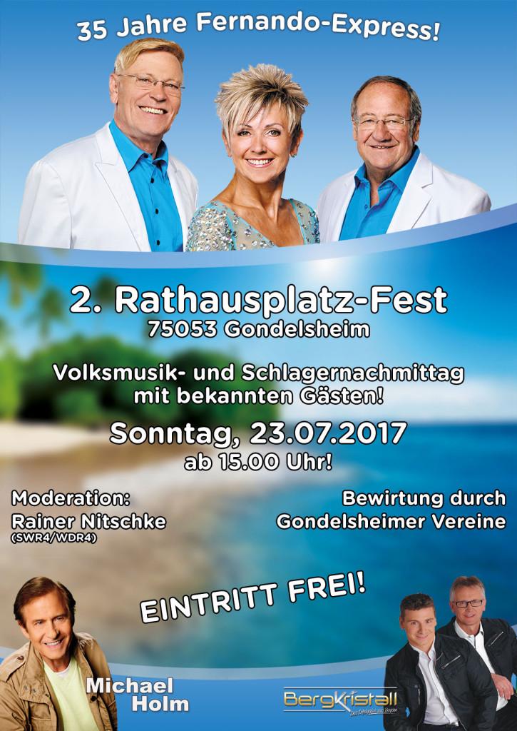 Fernando Express & Michael Holm - Sonntag, 23. Juli 2017 / 15.00 Uhr - Eintritt frei - Gondelsheim